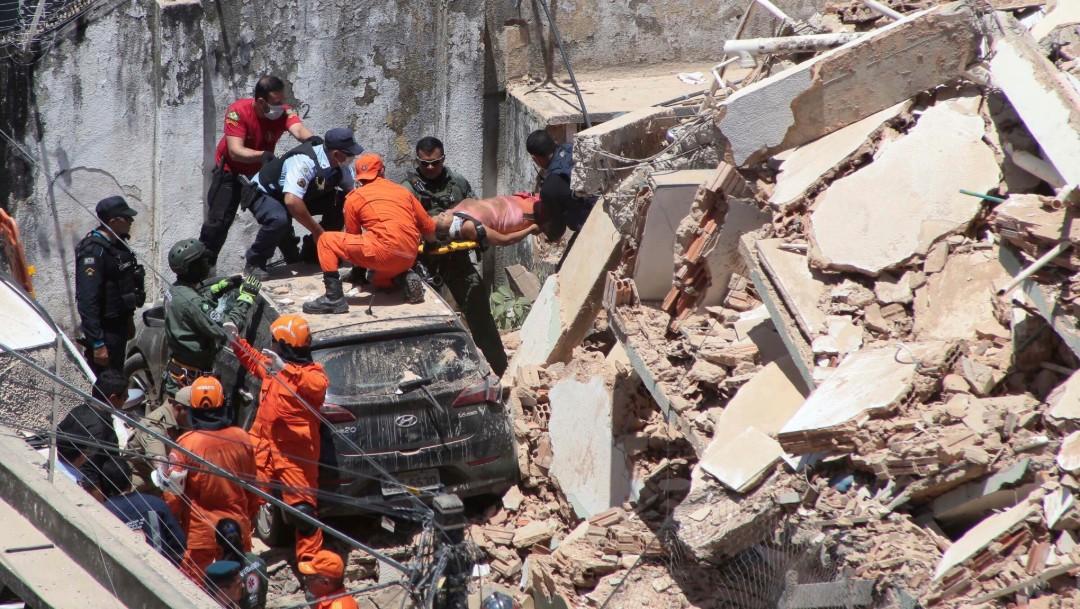 Foto: Un muerto y varios heridos por derrumbe de edificio en Brasil, 15 de octubre de 2019