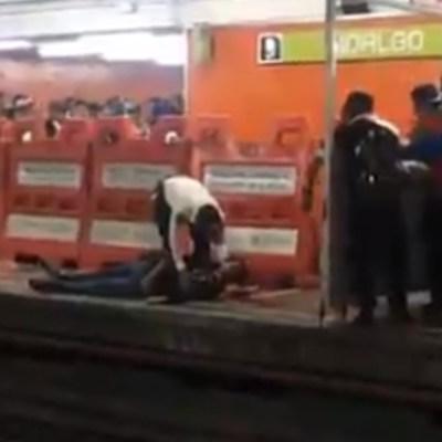 Vagón del Metro CDMX golpea a hombre en estación Hidalgo