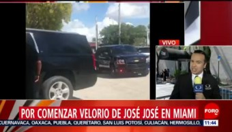 Velan a José José en funeraria de Miami, Florida