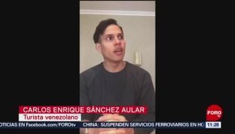 FOTO: Venezolanos denuncian maltrato en aeropuerto de Cancún, 5 octubre 2019