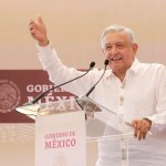 Foto: AMLO este sábado en Sonora, 26 de octubre de 2019, (Presidencia)