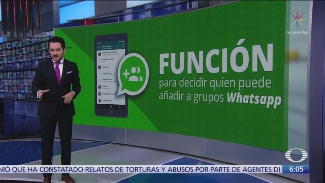 WhatsApp impedirá añadir a grupos