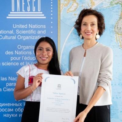 Yalitza Aparicio, embajadora de Unesco, quiere dar visibilidad a indígenas
