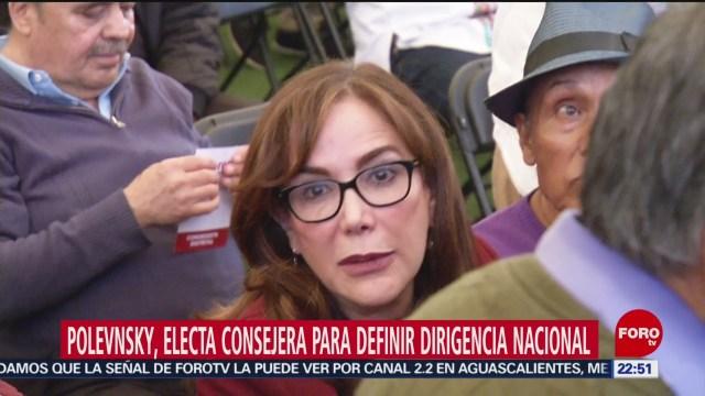FOTO: Yeidckol Polevnsky resulta electa como consejera nacional de Morena, 27 octubre 2019
