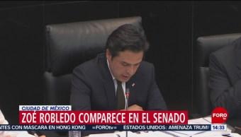 FOTO: Zoé Robledo compareció Senado