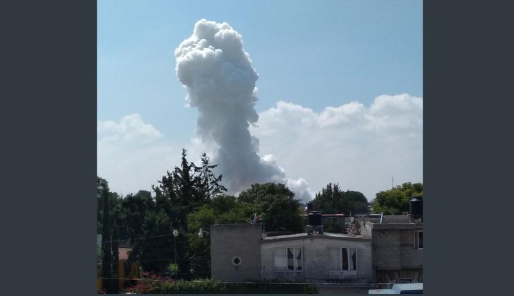Foto: Se registra una explosión por pirotecnia en Zumpango, Estado de México, el 23 de octubre de 2019 ((Twitter @l4nd3t4)