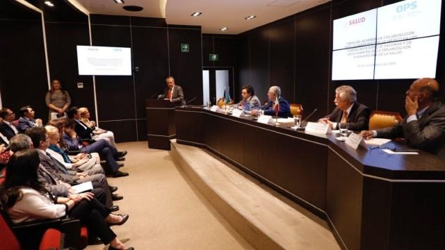 Foto: El secretario de Salud, Jorge Alcocer, celebró este convenio, al cual ya se han sumado en el tema de vacunas 45 países, y en el tema de medicamentos y suministros estratégicos 33 naciones más