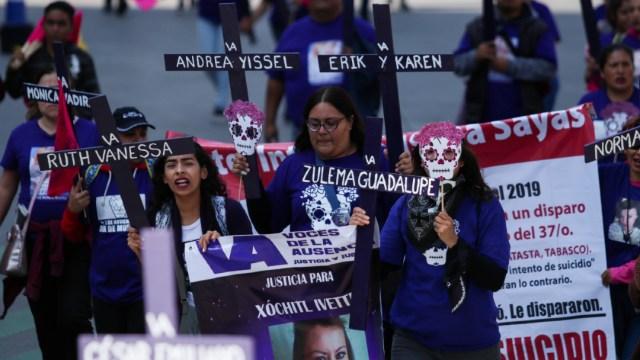 Foto: Marcha desde el Ángel de la Independencia hasta el Zócalo capitalino contra los feminicidios en México, 30 noviembre 2019
