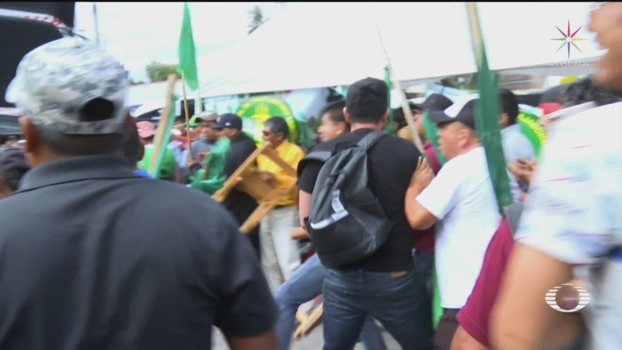 A golpes, continúan protestas en inmediaciones de San Lázaro - Noticieros Televisa