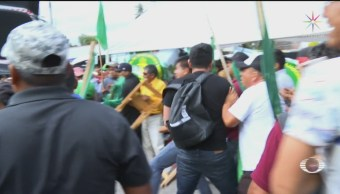 FOTO:A golpes, continúan protestas en inmediaciones de San Lázaro, 13 noviembre 2019
