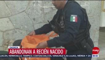FOTO: Abandonan a bebé recién nacido en Oaxaca, 17 noviembre 2019