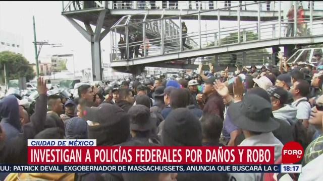 FOTO: Abren investigación contra federales por protestas AICM