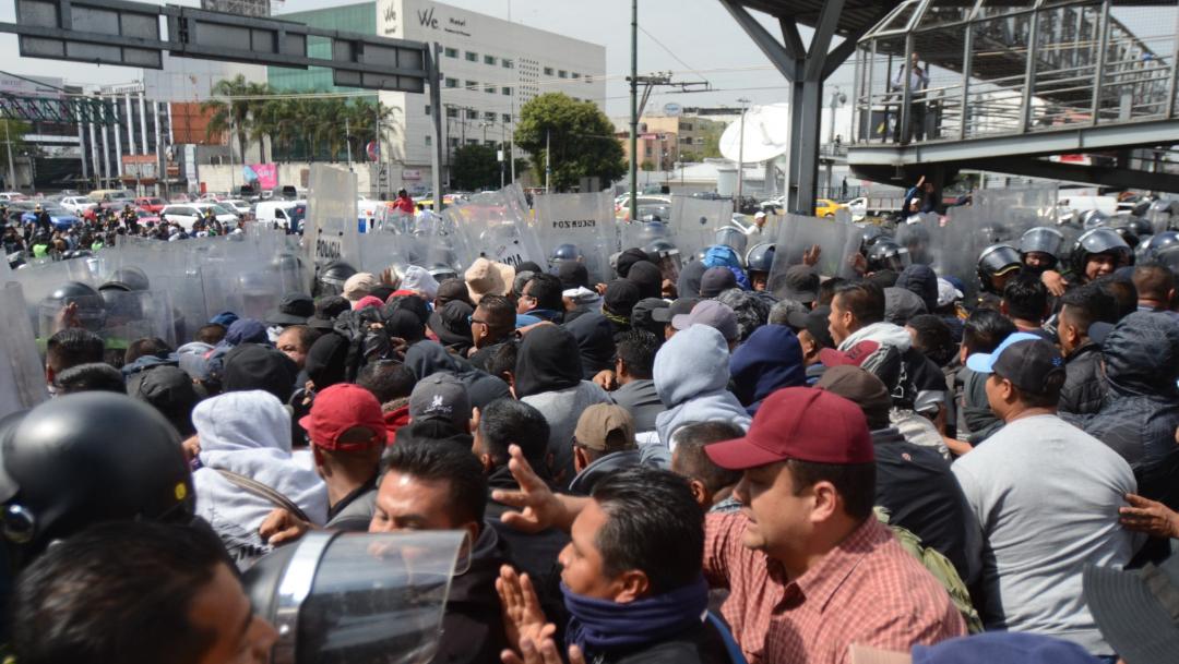 protesta policias federales aicm