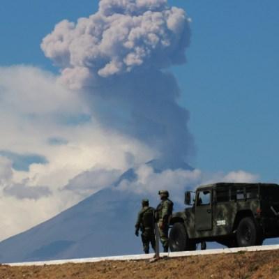 Alistan simulacro de evacuación por contingencia volcánica del Popocatépetl en Puebla