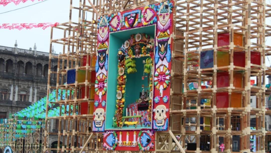 Fotos: Megaofrenda 'Altar de altares' en el Zócalo de la Ciudad de México