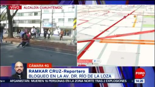 FOTO: Alternativas viales por bloqueo en avenida Dr. Río de la Loza en CDMX, 28 noviembre 2019