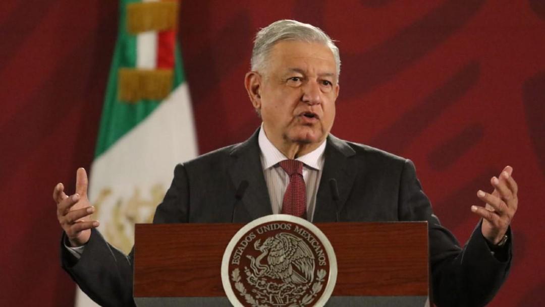 Foto: Andrés Manuel López Obrador, presidente de México, durante su conferencia matutina en Palacio Nacional, el 28 de noviembre de 2019 (Cuartoscuro)