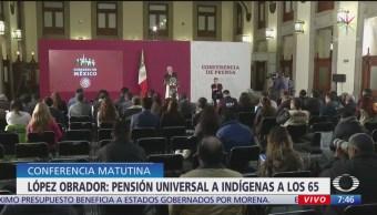 FOTO: AMLO rechaza que sea racismo dar trato preferente a indígenas, 18 noviembre 2019