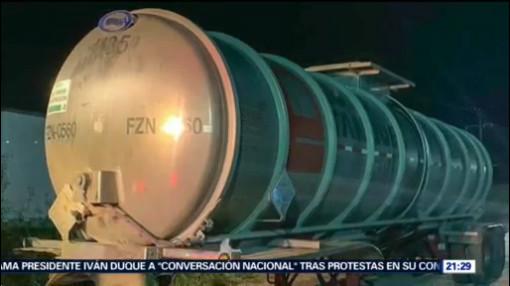 FOTO: Aseguran pipa con más de 10 mil litros de combustible en Chiapas, 24 noviembre 2019