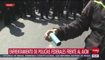 FOTO: Así eran latas gas que policías federales lanzaron contra policías CDMX,
