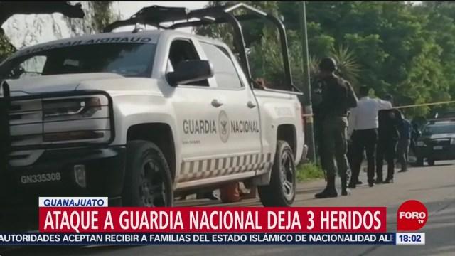 FOTO: Atacan elementos Guardia Nacional Guanajuato
