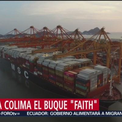 Buque carguero más grande del mundo llega a Colima