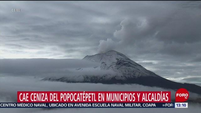 Foto: Volcan Popocatepetl Caída Ceniza CDMX Edomex 3 de Noviembre