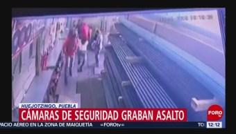 Cámara de seguridad graba asalto en empresa de acero