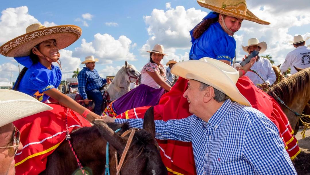 Foto: En Campeche, poco más de 500 jinetes participaron en la tradicional 'magna cabalgata', con motivo de la celebración del 109 aniversario de la Revolución Mexicana