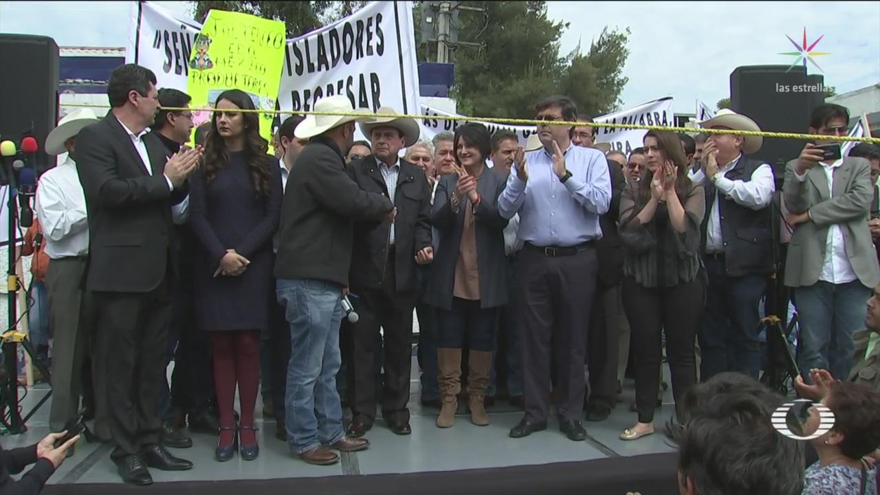 Campesinos bloquean San Lázaro - Noticieros Televisa