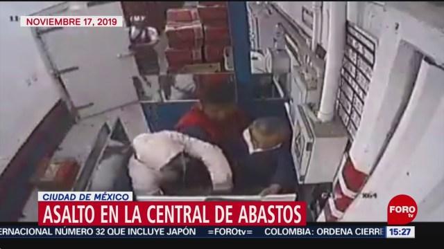FOTO: Captan nuevo asalto en la Central de Abasto de CDMX, 19 noviembre 2019