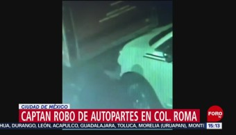 FOTO: Video Robo De Autopartes Colonia Roma
