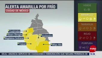 FOTO: CDMX activa alerta amarilla por pronóstico bajas temperaturas