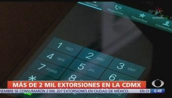 CDMX registra más de 2 mil extorsiones de enero a noviembre