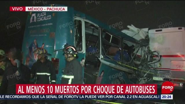 FOTO: Chocan autobuses en la México-Pachuca; hay 10 muertos, 18 noviembre 2019