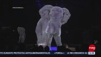 Circo en 3D exhibe a elefantes, caballos y peces