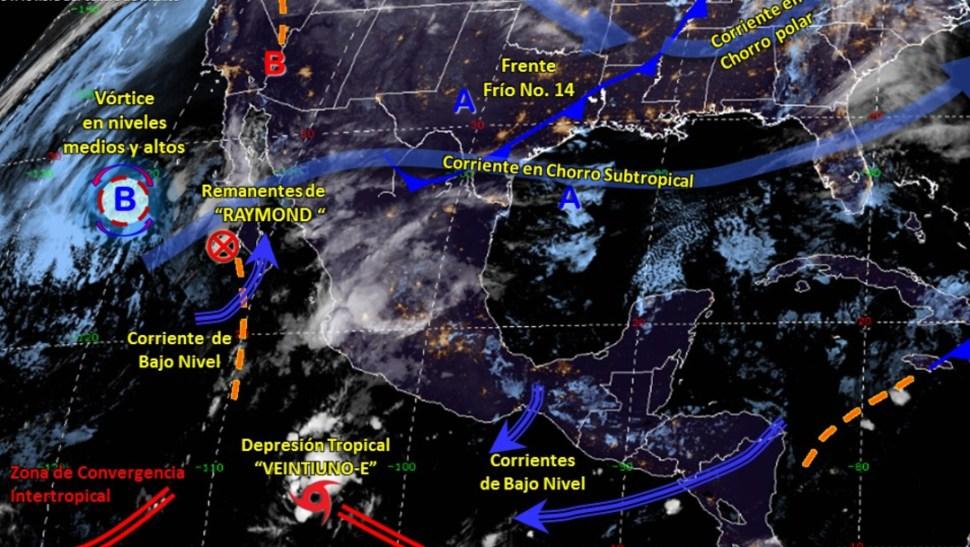 IMAGEN Pronostican lluvias muy fuertes en Baja California Sur (Conagua)