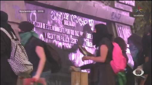 Foto: Destrozos Vandalismo Marcha Feminista CDMX 26 Noviembre 2019