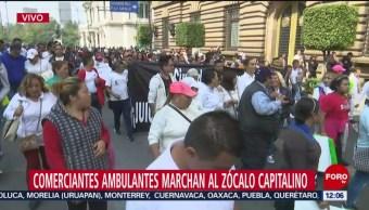 Foto: Comerciantes Ambulantes Marchan Zócalo CDMX,