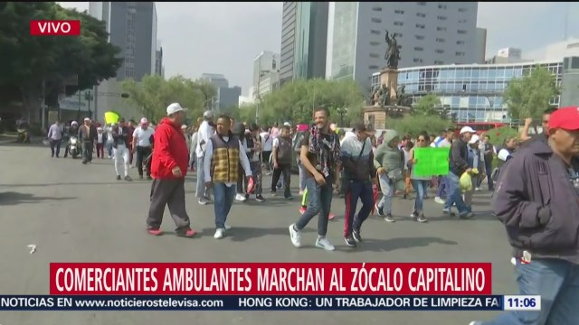 Foto: Comerciantes informales marchan Zócalo CDMX,