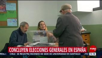 FOTO: Concluyen elecciones generales en España, 10 noviembre 2019