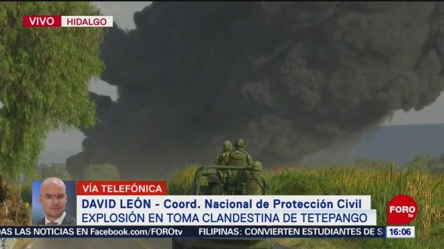 FOTO: Confirman saldo blanco tras explosión por toma clandestina Tetepango
