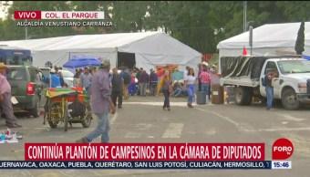 FOTO: Continúa plantón campesinos Cámara Diputados