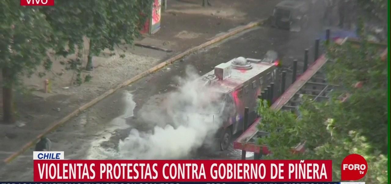FOTO: Continúan violentas protestas Chile