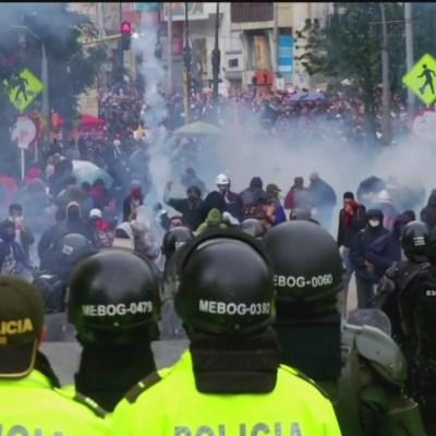 Declaran toque de queda en Bogotá, Colombia
