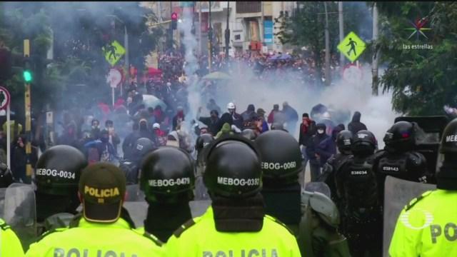 Foto: Declaran Toque Queda Bogotá Colombia 22 Noviembre 2019