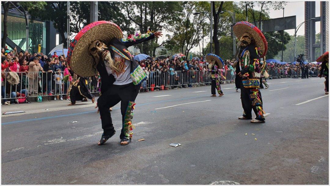 Fotos: Los Tecuanes y su danza no podían faltar en el Mega Desfile de Día de Muertos, 2 de noviembre de 2019 (Secretaría de Cultura)