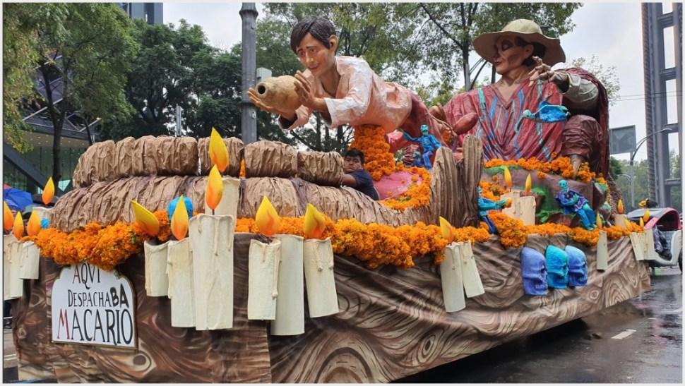 Foto: Carro alegórico homenajeó a Macario, 2 de noviembre de 2019 (Secretaría de Cultura)