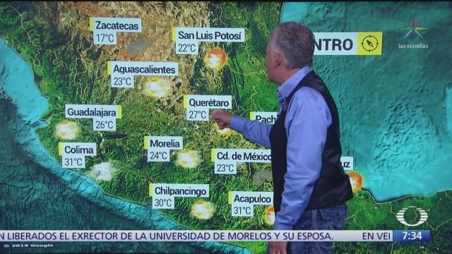 FOTO: Despierta con Tiempo: Condiciones estables con clima cálido en sur de México, 18 noviembre 2019