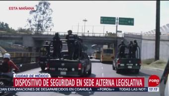 FOTO: Despliegan dispositivo seguridad sede alterna Cámara Diputados